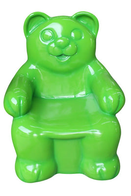 Candy Gummy Bear Chair Green Small Over sized Display Resin Prop Decor Statue - LM Treasures Prop Rentals