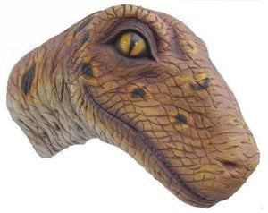 Dinosaur Velociraptor Head Mouth Closed Prehistoric Prop Resin Statue
