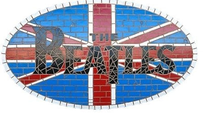 Sign British Beatle # 1 Legend Looks Like Mosaic Wall Plaque Decor - LM Prop Rentals