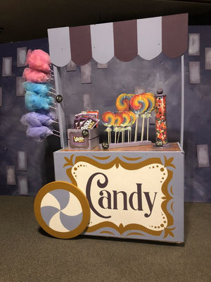Candy Cart Willy Wonka Dessert Table Prop Decor