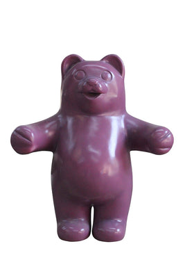 Candy Gummy Bear Purple Over Sized Prop Resin Statue - LM Treasures Prop Rentals