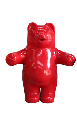 Candy Gummy Bear Red Over Sized Prop Resin Statue - LM Treasures Prop Rentals