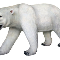 Bear Polar Walking Mouth Open Animal Prop Life Size Decor Resin Statue - LM Treasures Prop Rentals