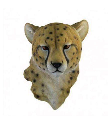 Cheetah Head Animal Prop Wall Decor Resin Statue - LM Prop Rentals