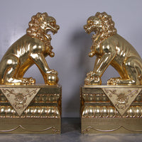 Foo Dog Plinth Chinese Lion Base Over Sized Statue