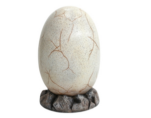 Dinosaur Fossil Egg Large on Rock Prehistoric Prop Resin Statue - LM Treasures Prop Rentals
