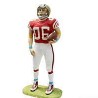 American Football Player Life Size Movie Prop Decor Statue - LM Treasures Prop Rentals