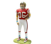 American Football Player Life Size Movie Prop Decor Statue - LM Prop Rentals