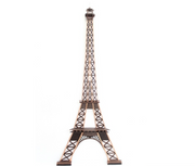 Eiffel Tower Half Wall Decor Paris Prop Life Size Statue - LM Prop Rentals