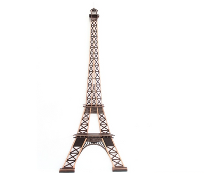 Eiffel Tower Half Wall Decor Paris Prop Life Size Statue