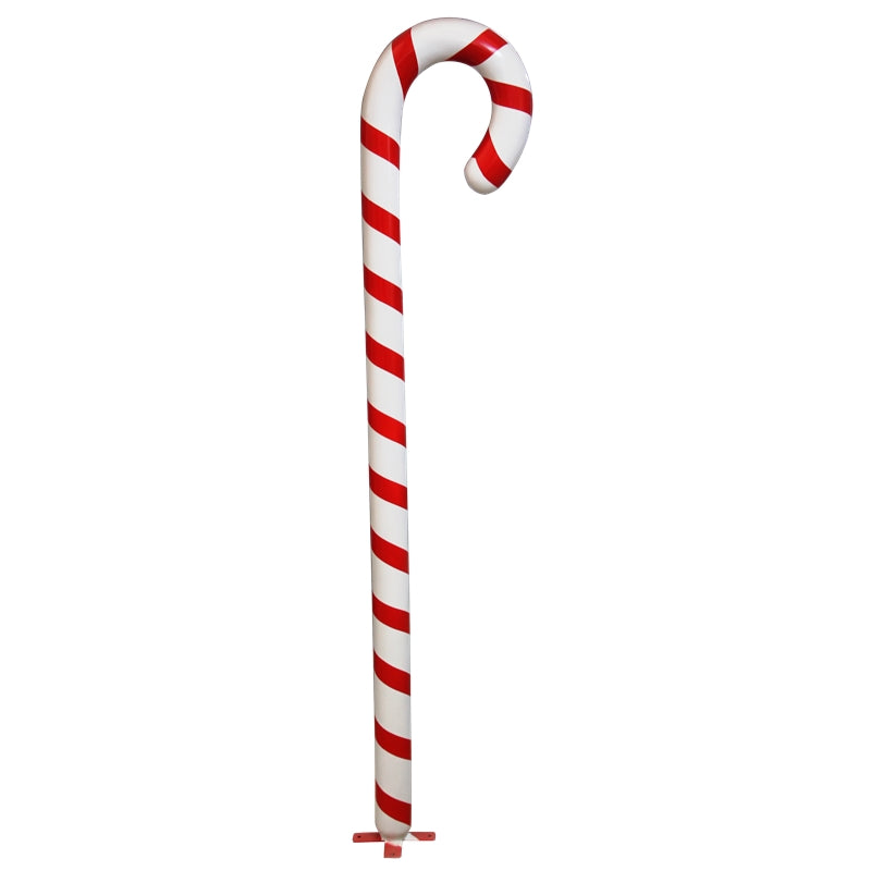 Candy Cane Small Base 6ft Prop Display Resin Statue - LM Treasures Prop Rentals