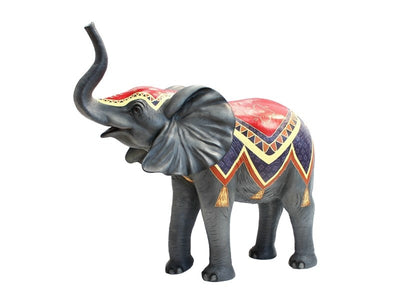 Elephant Baby Standing Trunk Up #2 Circus Life Size Jungle Animal Resin Statue - LM Treasures Prop Rentals