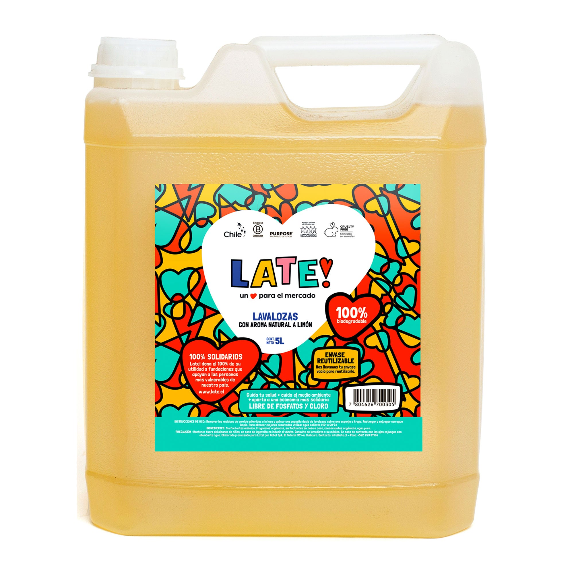 Lavalozas Biodegradable 5 L