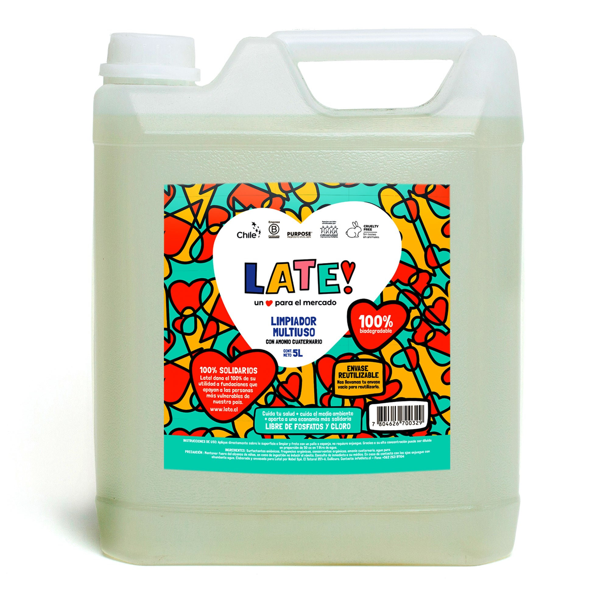 Limpiador Multiuso Biodegradable 5 L
