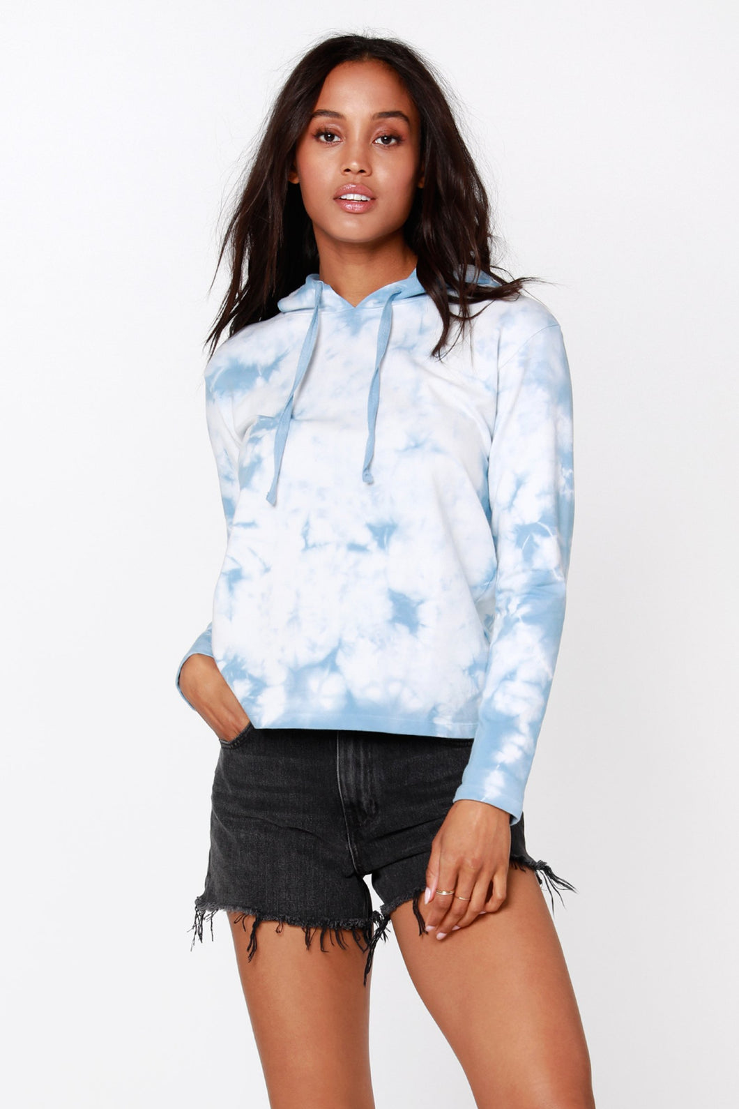 Tie Dye Cropped Hoodie - civvies - indianapolis clothing boutique