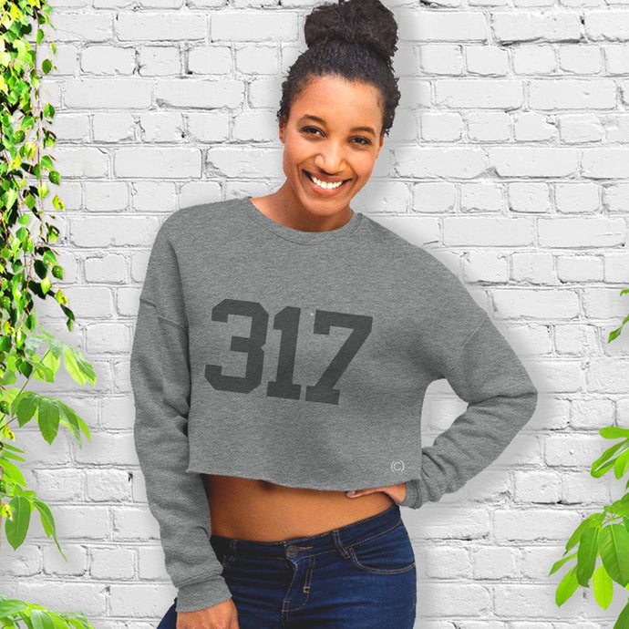 317 Cropped Fleece Crew - civvies - indianapolis clothing boutique