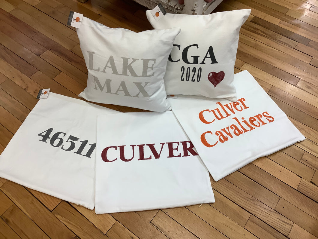 16x16 Pillow Cover - civvies - indianapolis clothing boutique