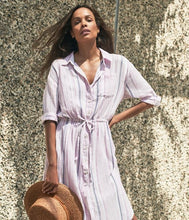 Vita Striped Shirt Dress - civvies - indianapolis clothing boutique