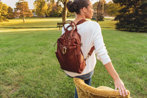 Rodica Leather Backpack Tote - civvies - indianapolis clothing boutique