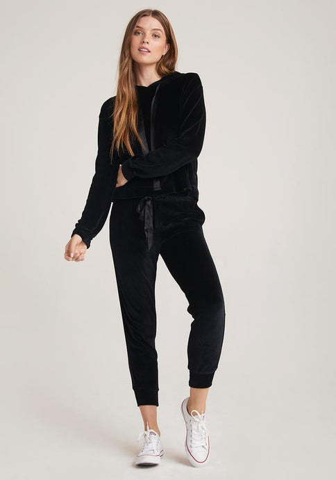 Bella Dahl Velour Jogger with Satin Trim - civvies - indianapolis clothing boutique