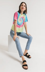 Neon Tie-Dye Tee - civvies - indianapolis clothing boutique