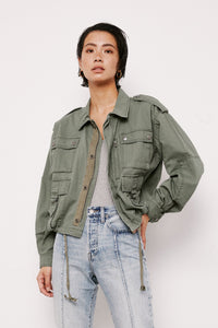 Ashton Cropped Utility Jacket - civvies - indianapolis clothing boutique