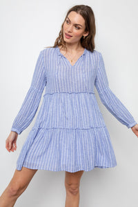 Everly Ludlow Stripe Dress - civvies - indianapolis clothing boutique
