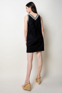Embroidered V-neck Dress - civvies - indianapolis clothing boutique