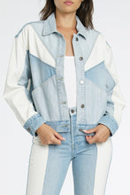 Willow Colorblock Denim Jacket - civvies - indianapolis clothing boutique