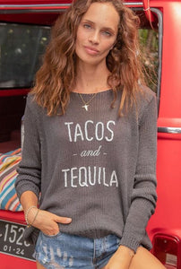Tacos & Tequila Crew Neck - civvies - indianapolis clothing boutique