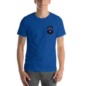 Men's Thin Blue Line T-Shirt (Back The Blue) - Modify Print