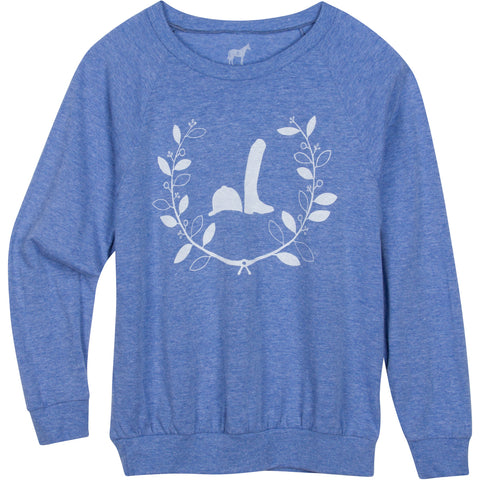 Kids, Helmet & Boot Wreath Longsleeve Raglan T-shirt