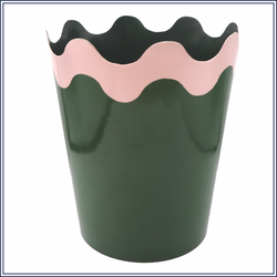 GIANT SCALLOP PLANTER, GREEN