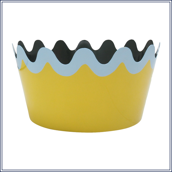 SCALLOP TOLE PLANTER IN YELLOW, LARGE
