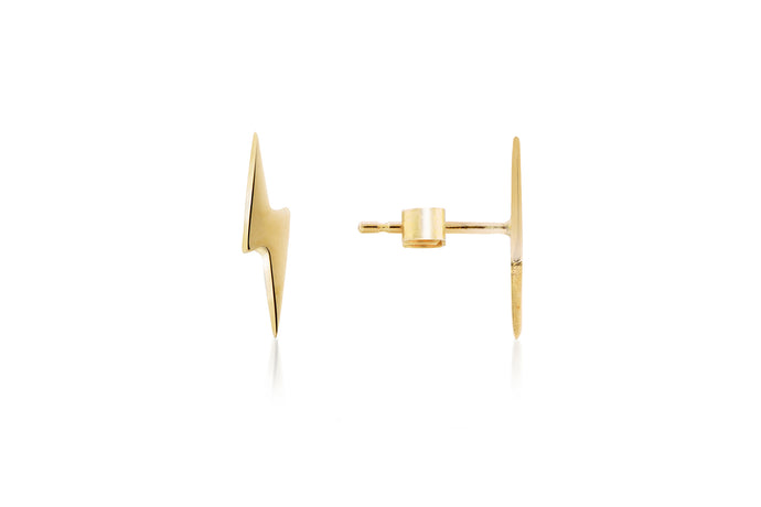 Mini lightning bolt earrings - cosmicboulevard