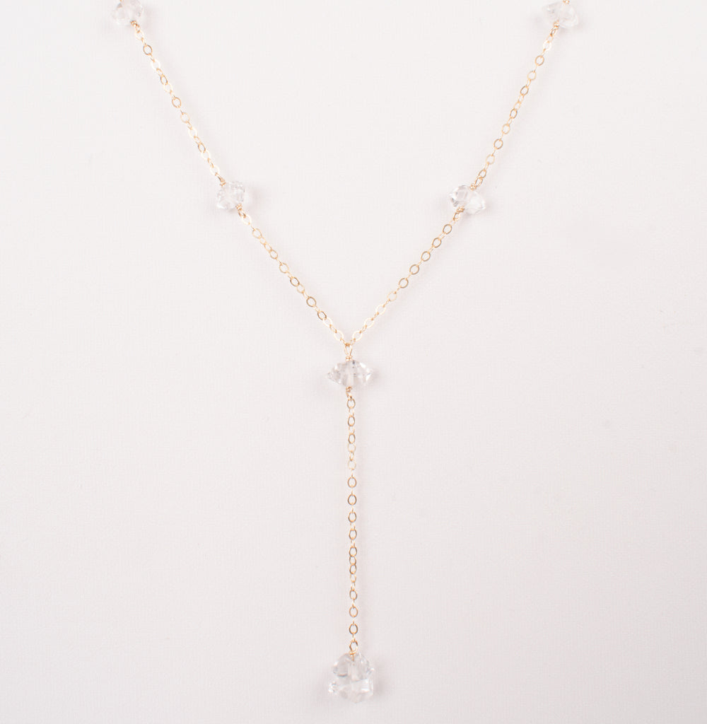 Luminous Herkimer Diamond Lariat