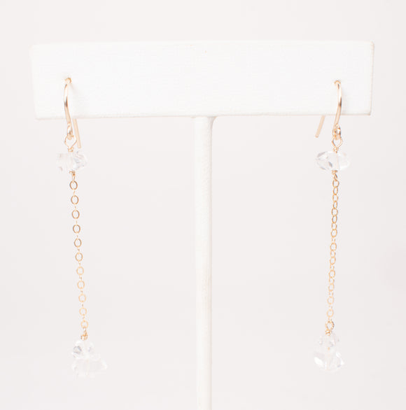 Glowing Herkimer Diamond Earrings