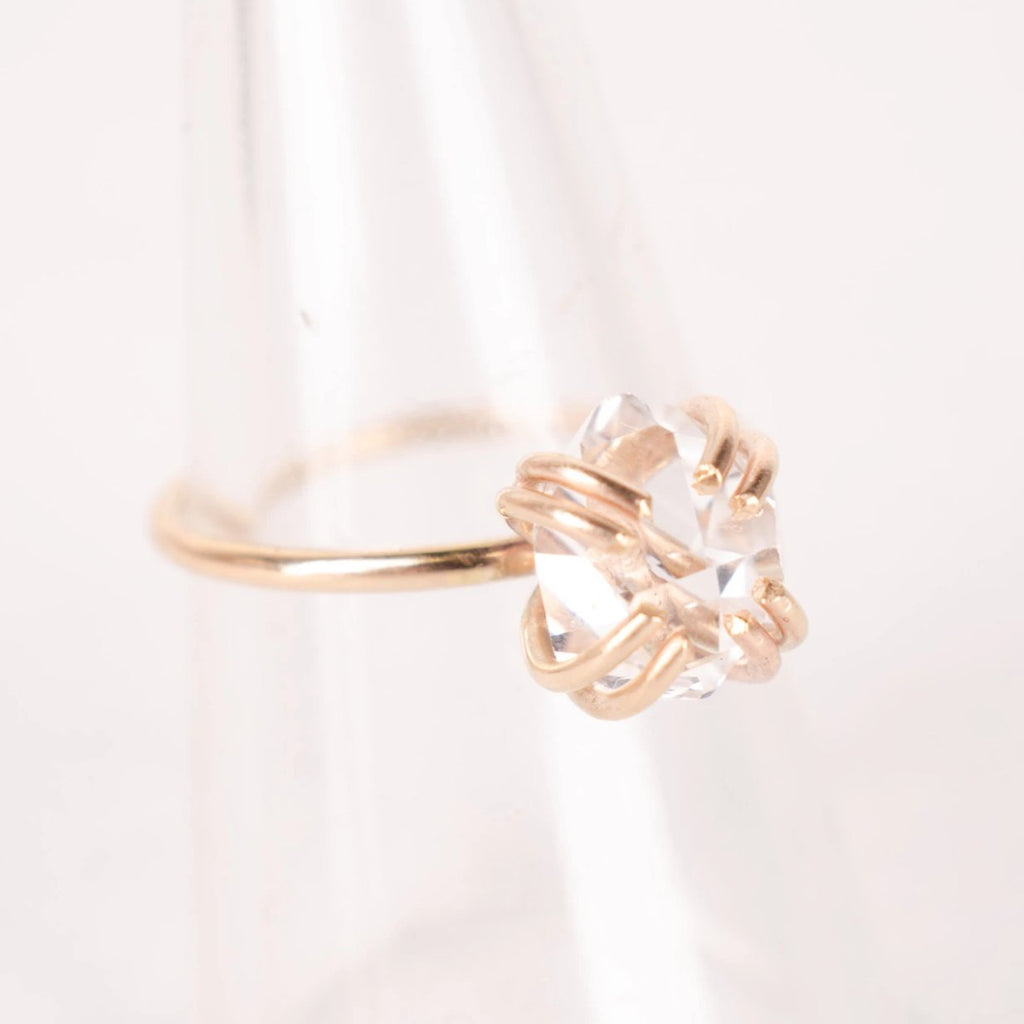 Amplifying Light Herkimer Diamond Ring