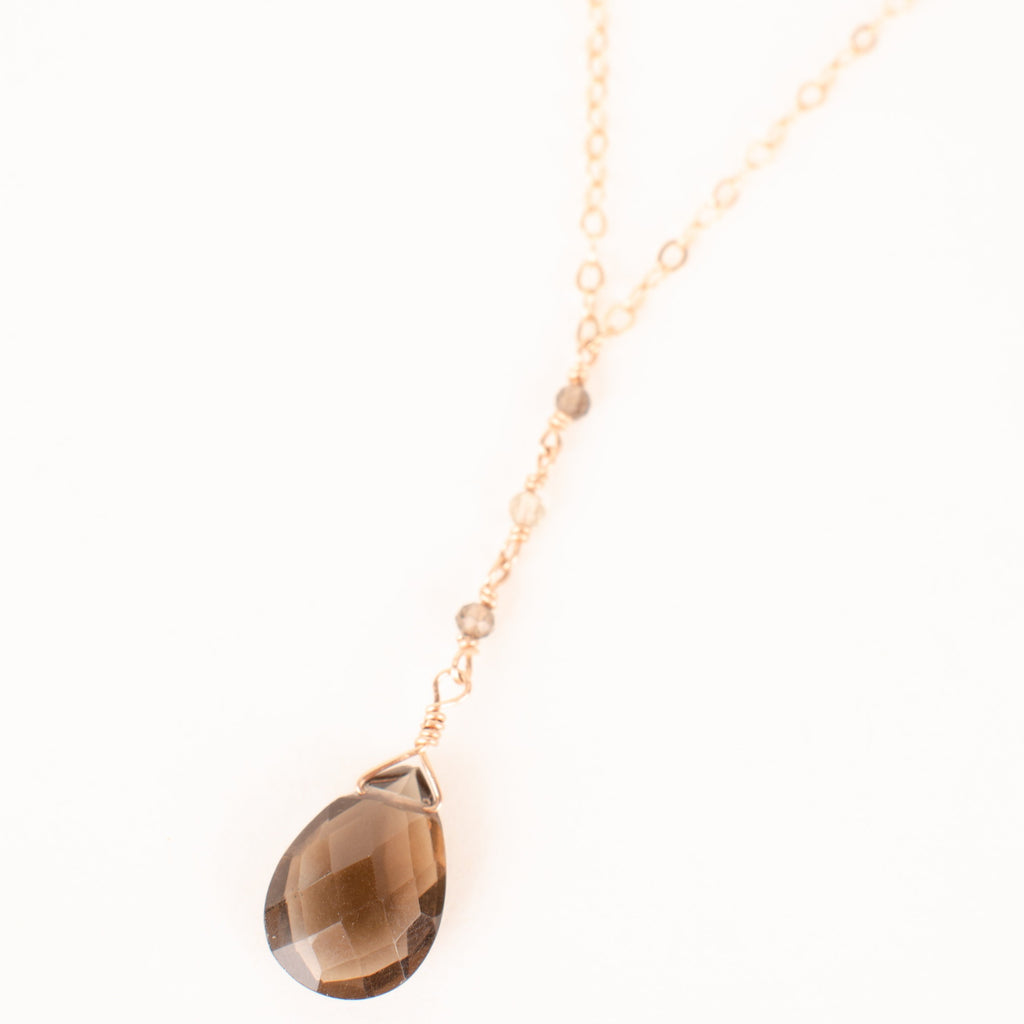 Power of Creation Smoky Quartz Lariat