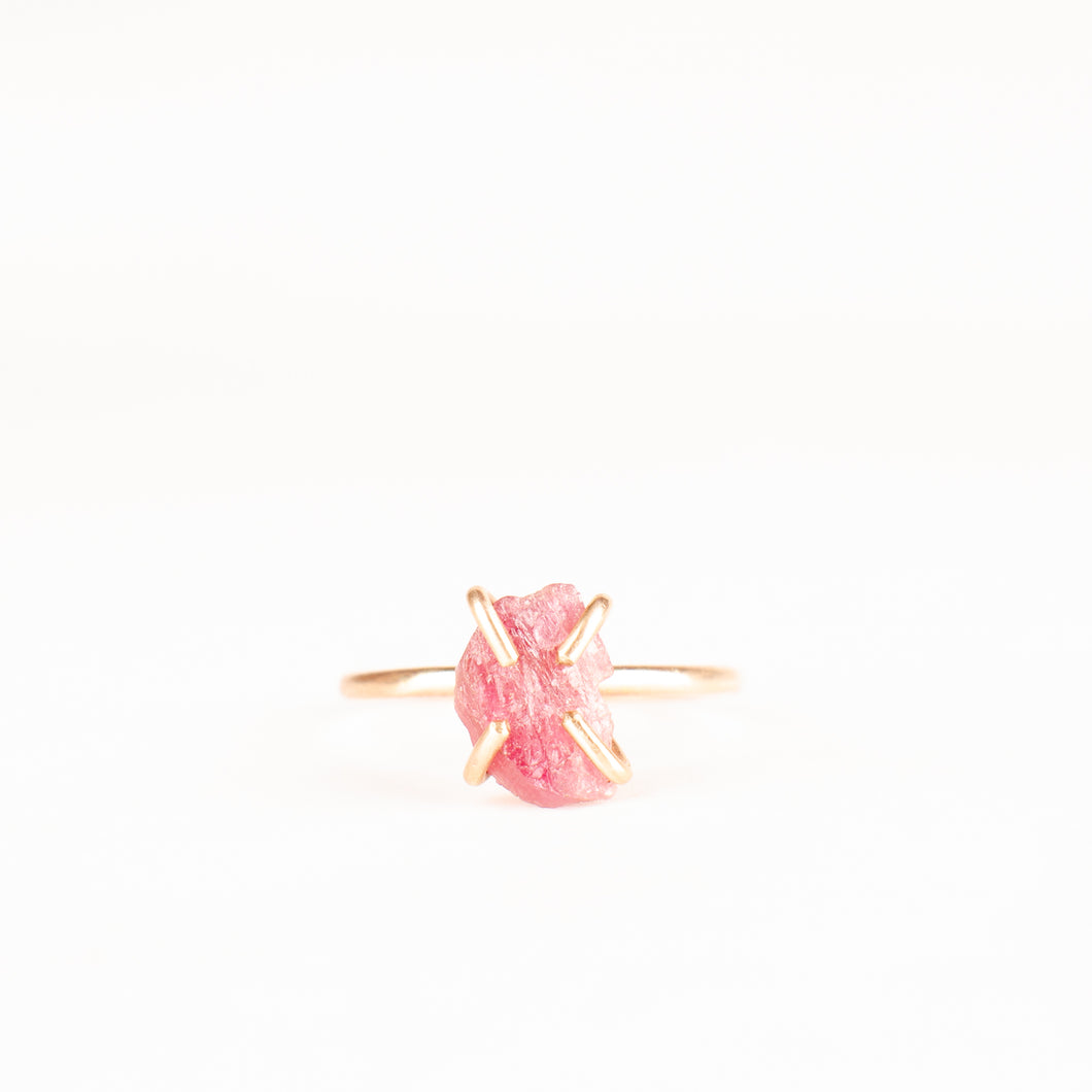 Raw Emotion Rubellite Ring