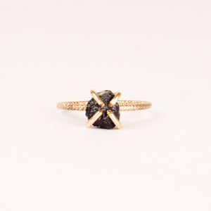 Raw Protection Black Tourmaline Ring