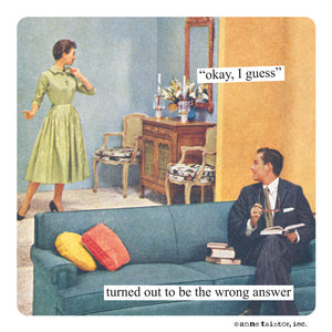 "Anne Taintor magnet ""wrong answer"""
