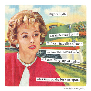 "Anne Taintor Magnet, ""higher math"""