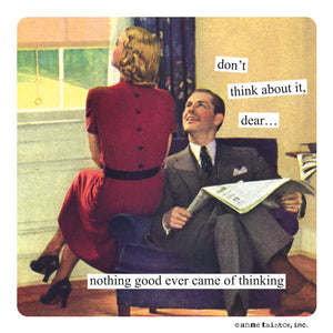 "Anne Taintor Magnet, ""thinking"""