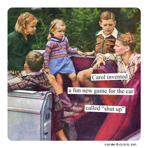 "Anne Taintor Magnet, ""a fun new game"""