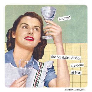 "Anne Taintor Magnet, ""breakfast dishes"""