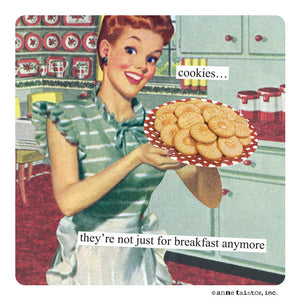 "Anne Taintor Magnet, ""not just for breakfast"""