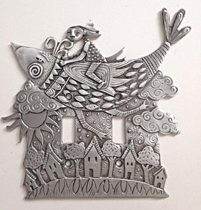 """Bird Flight"" switchplate cover by Leandra Drumm (#151)"