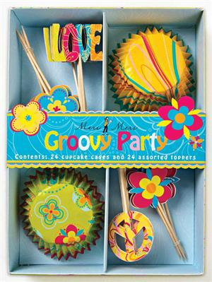 Groovy Party Cupcake Kit!