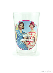 "Anne Taintor ""Juice"" Glasses ~ we're ready for cocktails"